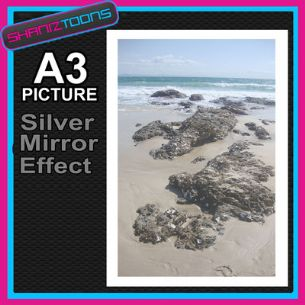 ROCK POOL BYRON BAY BEACH PRINTED PICTURE SPECIAL EFFECT PRINT NOT CANVAS